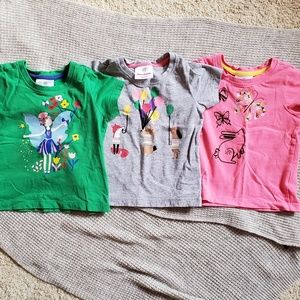 Hanna Andersson 3 pieces of toddler tees